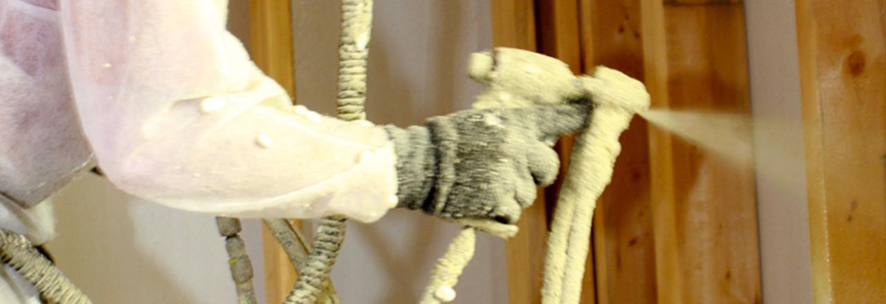 Close-up of Spray Foam Insulation
