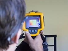 Using a thermal imaging camera during an energy audit